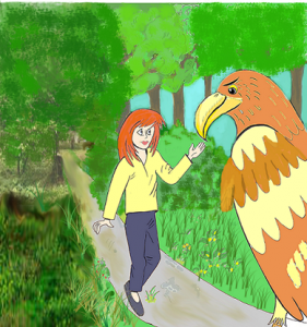 Susie and king eagle in the forrest 1.tif 3